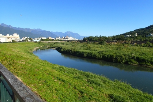 Hualien River bei bestem Wetter